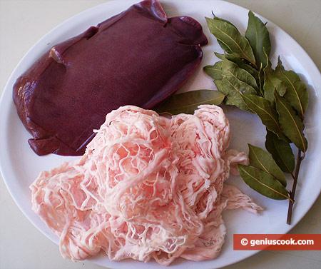 Ингредиенты для печени жареной по-неаполитански