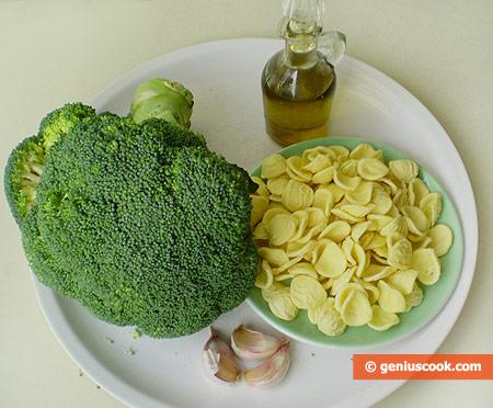 Ингредиенты для орекьетте с брокколи