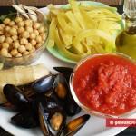 Ингредиенты для пасты с мидиями