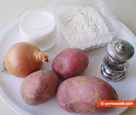 Ингредиенты для картофельных блинов