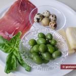 Ингредиенты для сырных корзиночек с салатом