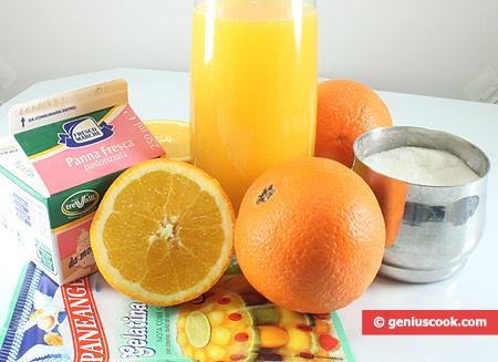 Ингредиенты для апельсинового желе