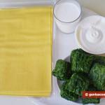 Ингредиенты для баулетти с рикоттой и шпинатом