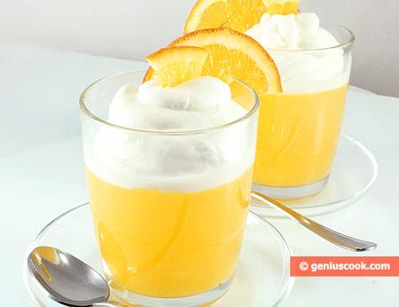 Апельсиновое Желе с взбитыми сливками