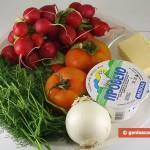 Ингредиенты для салата с редисом