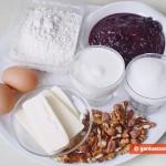 Ингредиенты для Рогаликов с повидлом и орехами