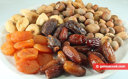 Ингредиенты для фаршированных фруктов