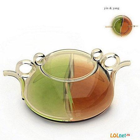 Чайник для зелёного и чёрного чая, с двумя носиками
