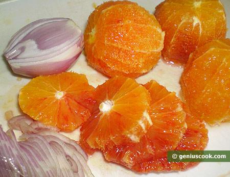 Апельсины и лук шалот