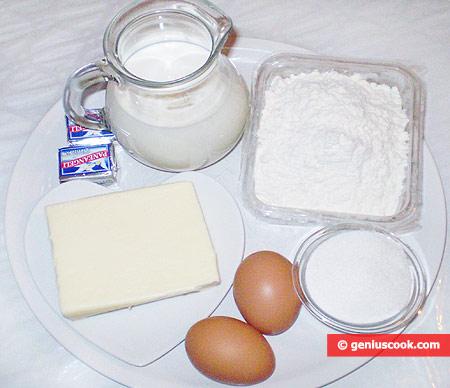 Ингредиенты для круассанов