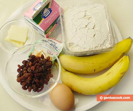 Ингредиенты банановых маффинов