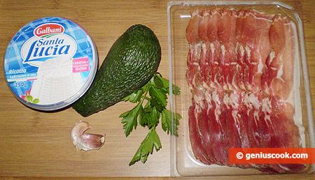 Ингредиенты для ветчины с кремом