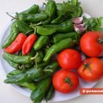Ингредиенты для жареных перчиков
