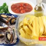 Ингредиенты для папарделле в соусе