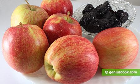 Ингредиенты для яблок с черносливом