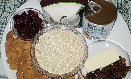 Ингредиенты для батончиков Гранола