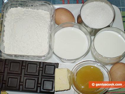 Ингредиенты для маффинов с шоколадной крошкой