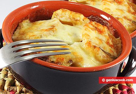Картофель в сливках, запечённый в горшочках по-французки