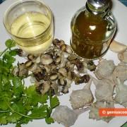 Ингредиенты для улиток с чесноком и петрушкой