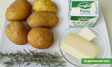 Ингредиенты для картофеля по-французски на 2 порции