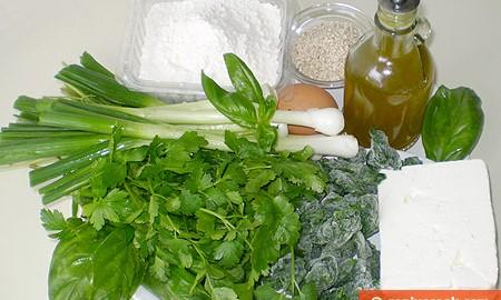 Ингредиенты для критских пирожков калицунья
