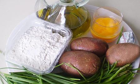 Ингредиенты для пирожков с картошкой