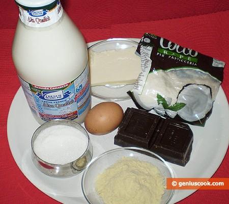 Ингредиенты для кокосового эскимо
