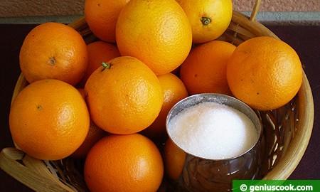 Ингредиенты для апельсинового сорбета