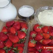 Ингредиенты для клубничного мороженого