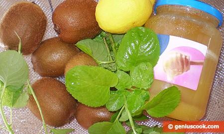 Ингредиенты для сорбета из киви и мяты