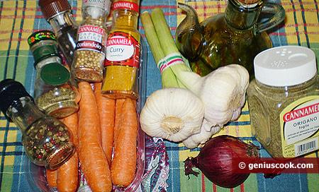Ингредиенты для маринованной корейской моркови