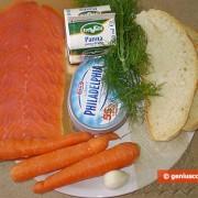 Ингредиенты для морковного чизкейка