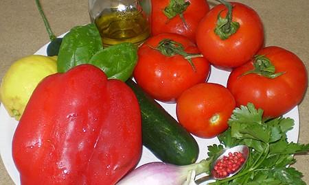 Ингредиенты для Гаспачо
