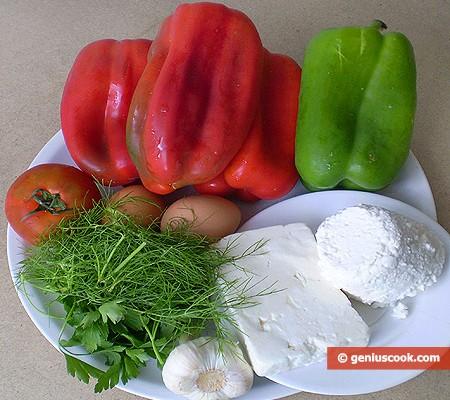 Ингредиенты для болгарских перцев
