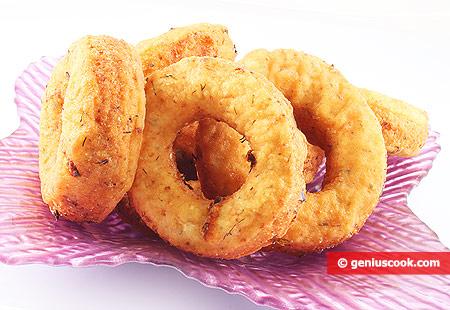 Сырные пончики с пряными травами