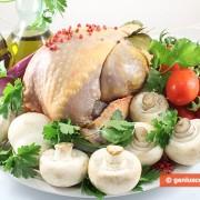 Ингредиенты для цесарки с грибами