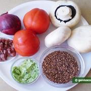 Ингредиенты для гречки с грибами