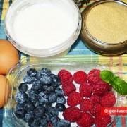 Ингредиенты для ягодного семифредо