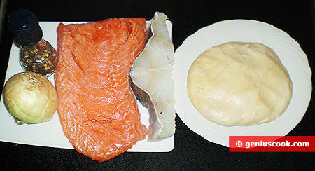 Ингредиенты для пельменей с рыбой