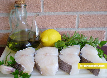 Ингредиенты для рыбного салата Баккала ин Бьянко