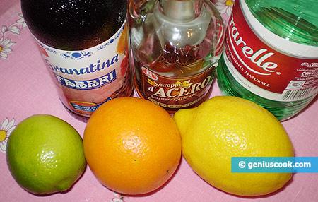 Ингредиенты для апельсинового коктейля