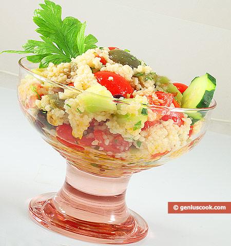 Салат с кускусом по-восточному