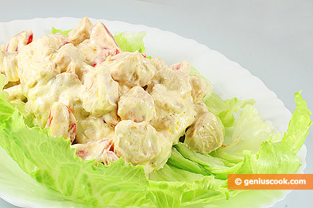 Салат из Куриной Грудки с Сыром Филадельфия