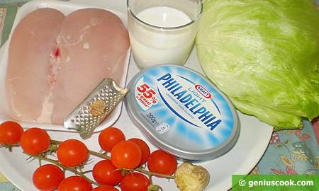Ингредиенты для салата из куриной грудки
