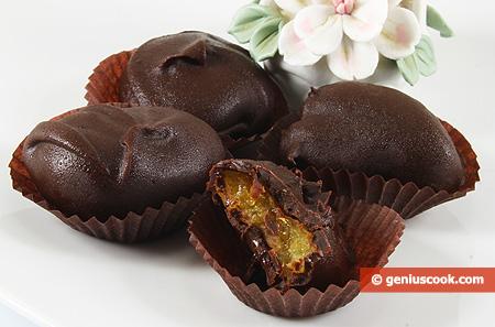 Домашние конфеты Курага в Шоколаде