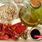 Ингредиенты для пасты из вяленых помидоров