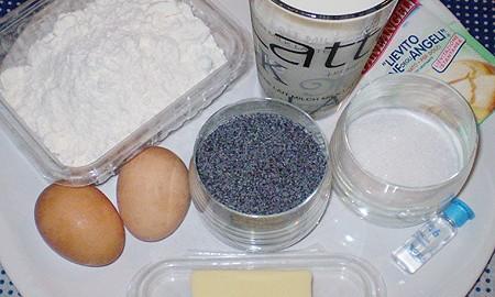 Ингредиенты для вафель с маком