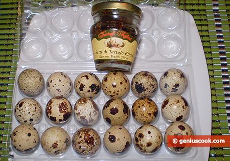 Ингредиенты для омлета с трюфелями