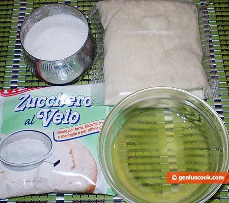 Ингредиенты для миндального печенья