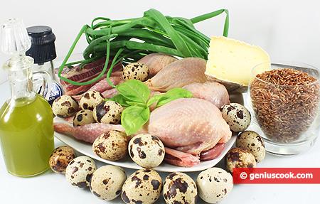 Ингредиенты для Перепелиного гнезда